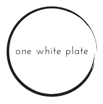 one white plate